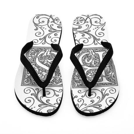 BS, initials, Flip Flops