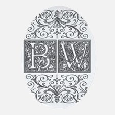 BW, initials, Oval Ornament