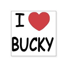 "I heart BUCKY Square Sticker 3"" x 3"""