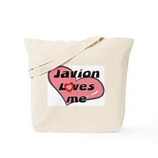 javion loves me Tote Bag