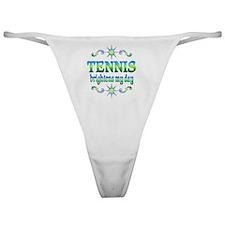 Tennis Brightens Classic Thong