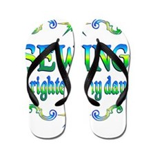 Sewing Brightens Flip Flops