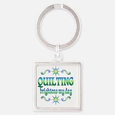 Quilting Brightens Square Keychain