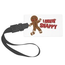 Gingerbread Man Snappy Luggage Tag