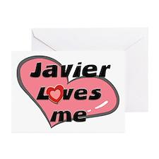 javier loves me  Greeting Cards (Pk of 10)