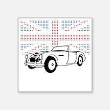 "Austin-Healey Union Jack Square Sticker 3"" x 3"""