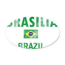 BRAZIL-real Oval Car Magnet