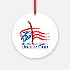 American Pride Round Ornament