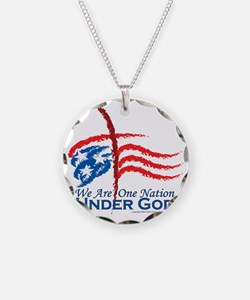 American Pride Necklace Circle Charm