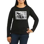 Palestinian Body Armor Women's Long Sleeve Dark T-