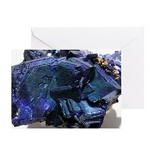 Azurite crystals Greeting Card