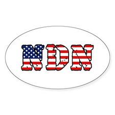 American NDN Oval Decal