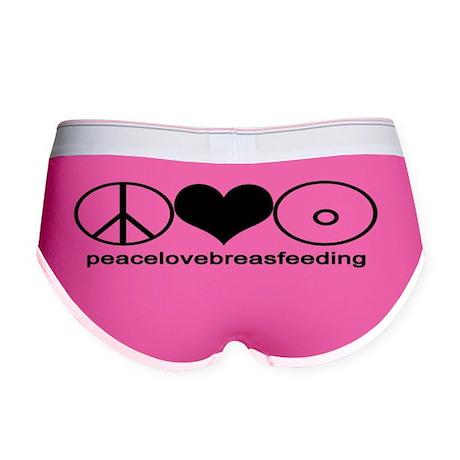 PeaceLoveBreastfeeding Sticker Women's Boy Brief