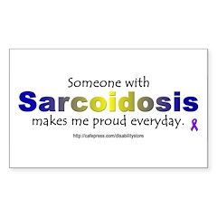 Sarcoidosis Pride Rectangle Decal