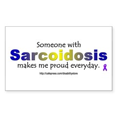 Sarcoidosis Pride Rectangle Decal