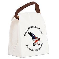ESA Jr Sr Nationals Black Letteri Canvas Lunch Bag