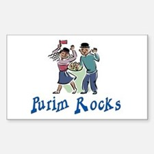 Purim Rocks Rectangle Decal