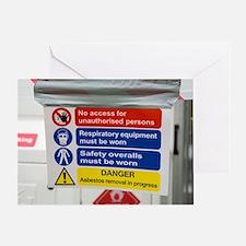 Asbestos removal warning signs Greeting Card