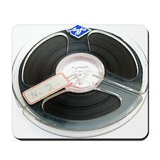 Audio tape reel Mousepad