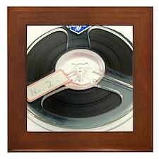 Audio tape reel Framed Tile
