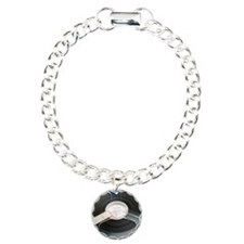 Audio tape reel Charm Bracelet, One Charm