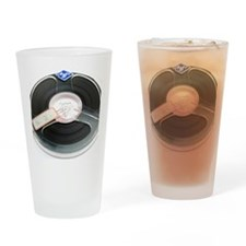 Audio tape reel Drinking Glass