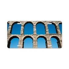 Aqueduct of Segovia, Spain Aluminum License Plate