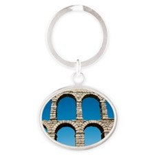 Aqueduct of Segovia, Spain Oval Keychain