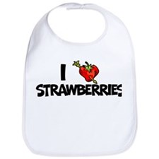 I Heart Strawberries Bib