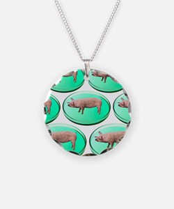 Artificial meat, conceptual  Necklace Circle Charm