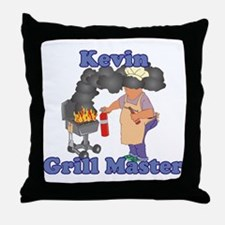 Grill Master Kevin Throw Pillow