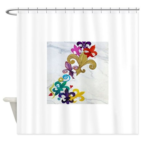 Fleur de lis party shower curtain by admin cp3632229 - Fleur de lis shower curtains ...