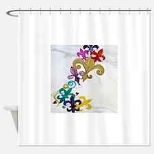 Fleur de lis party Shower Curtain