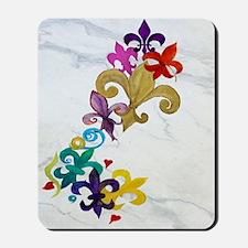 Fleur de lis party Mousepad