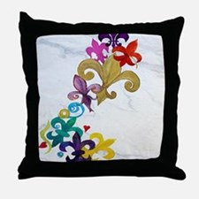 Fleur de lis party Throw Pillow