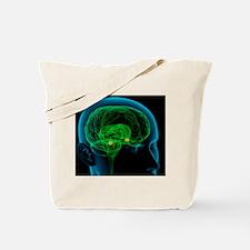 Amygdala in the brain, artwork Tote Bag