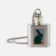 Animal testing, conceptual image Flask Necklace