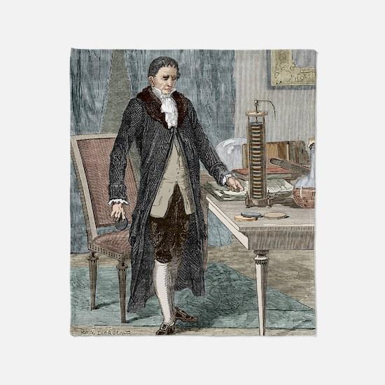 Alessandro Volta, Italian physicist Throw Blanket