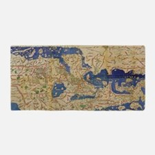 Al-Idrisi's world map, 1154 Beach Towel