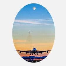 Aeroplane landing, Canada Oval Ornament