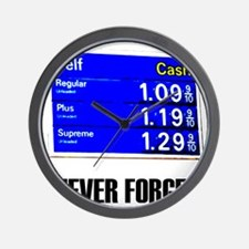 Never Forget Low Gas Prices Wall Clock