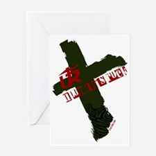 UTR - Calvary (Olive Green) Greeting Card