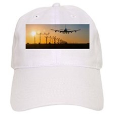 Aeroplane landing at sunset, Canada Baseball Cap