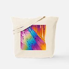 Caffeine crystals, light micrograph Tote Bag