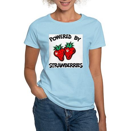 Powered By Strawberries Women's Light T-Shirt