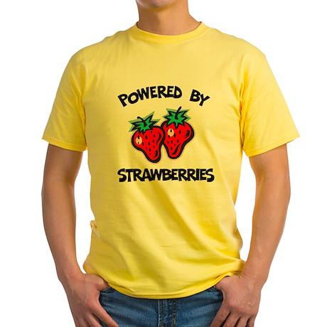 Powered By Strawberries Yellow T-Shirt