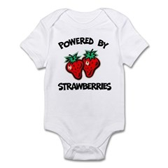 Powered By Strawberries Infant Bodysuit