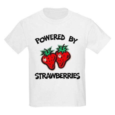 Powered By Strawberries Kids T-Shirt