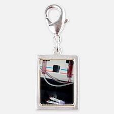 Blood apheresis machine Silver Portrait Charm