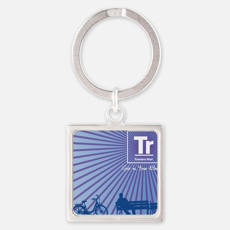 Relaxing in Travelers Rest, S.C. Square Keychain